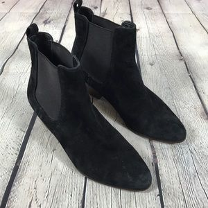 Sam Edelman Black Suede Reesa Ankle Booties Sz 7